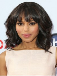 Kerry Highlight Color Wavy Full Lace Wig with Bang - cew011