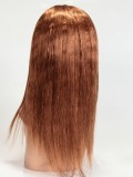 Half Yaki Half Silky Textured Full Lace Wig with Silk Top - hh036