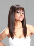 Straight Indian Virgin Hair Full Lace Wig with Bang - sc006