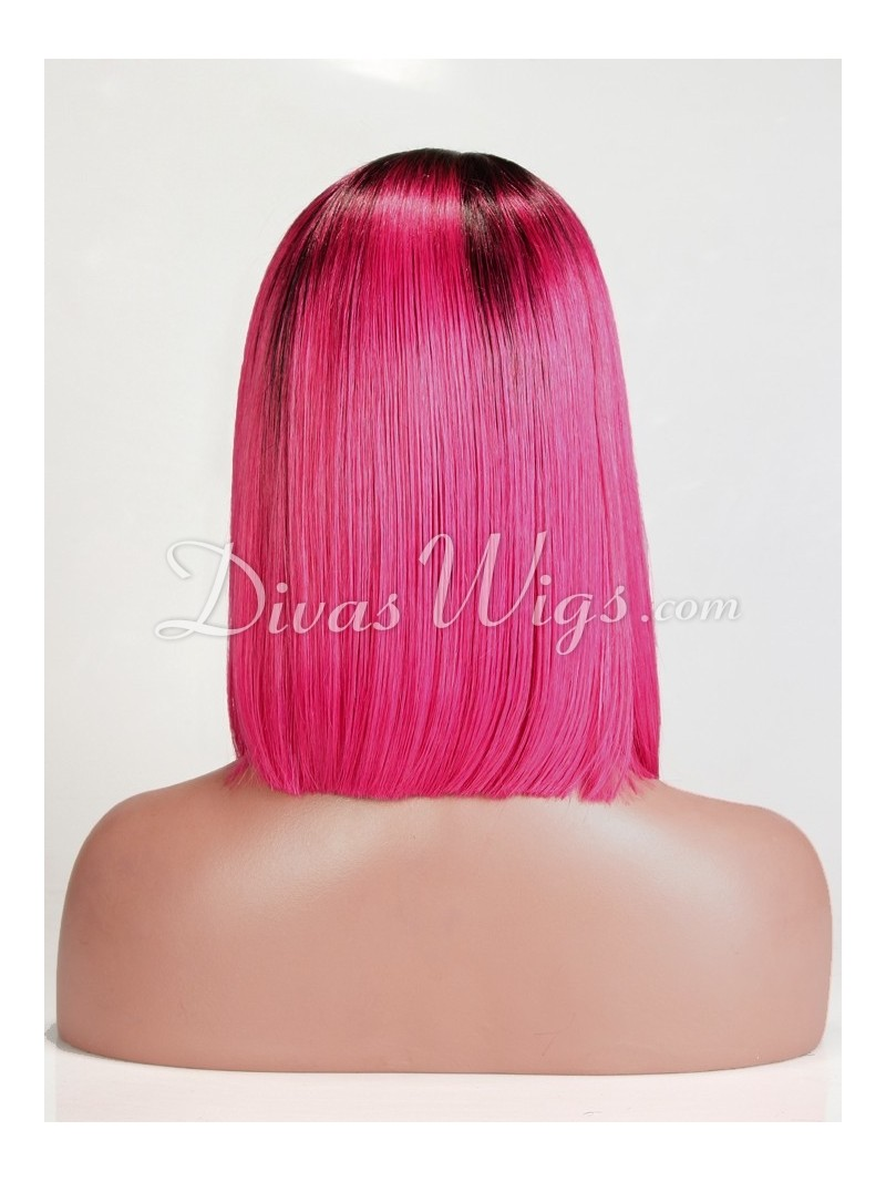 Pink Full Lace Wigs 119