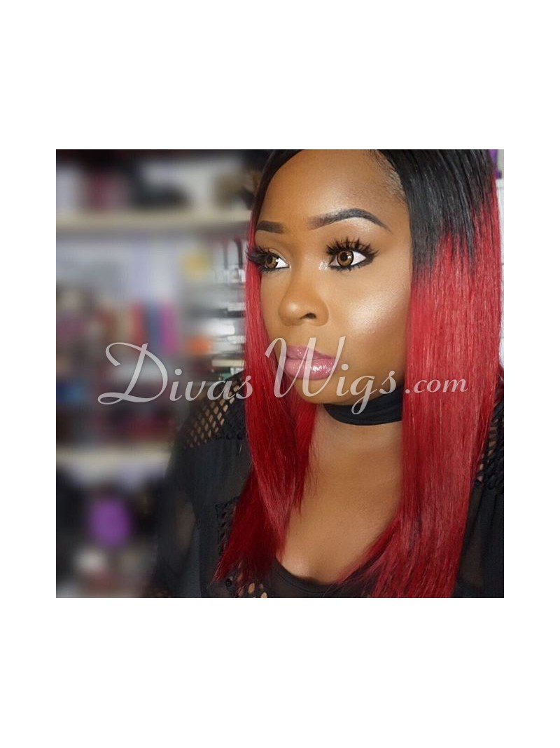 Ombre Red Wig 80