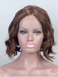 Stock Bob Style Human Hair Full Lace Wig -hh019