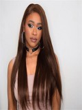 Brazilian Chocolate Brown Full Lace Human Hair Wig- WST088
