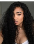 Long curly full lace Human Hair wig -cc088