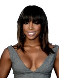 Kelly Rowland Inspired Bob Straight Full Lace Wig with Bang-sc067