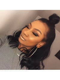 Instagram trendy Alesha dixons inspired one length full lace human hair bob-sc086