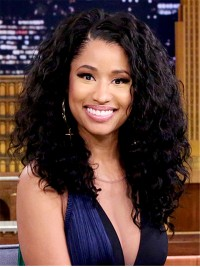 Nicki Minaj inspired shoulder length curly full lace human hair wig -cc086