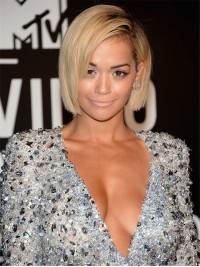 Custom Rita-ora inspired short Full lace human hair bob-sc868