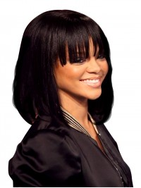 Rihanna Inspired Full Lace Human Hair bob - RR067