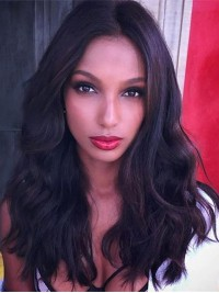 Jasmine Tookes Inspired Wavy Human Hair Lace Front Wig-LF-JT006