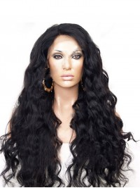 Bouncy waves lace front human hair Wig-LF-wc035
