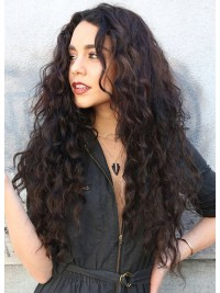 Curly Spiral Curls Human Hair Lace Front Wig-LF-CC036