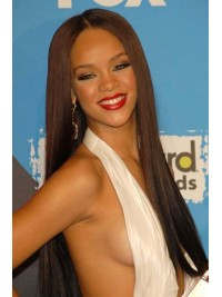Rihanna inspired bone straight full lace human hair wig -RR068