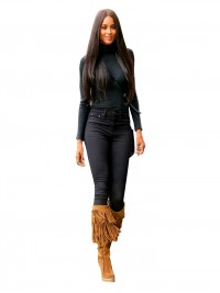 Ciara inspired straight full lace human hair wig with layers -RR089