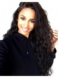 Ciara inspired curly full lace human hair wig   -CR089