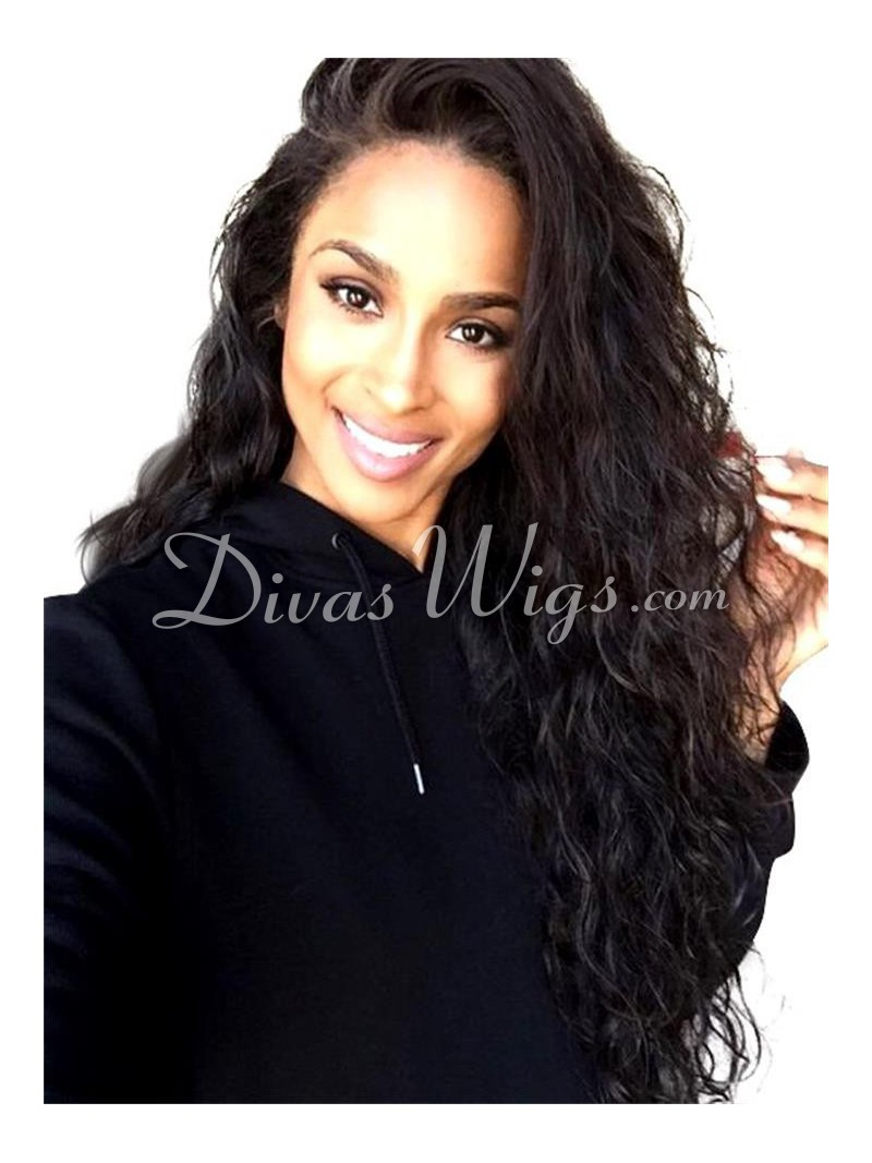 Ciara Inspired Curly Full Lace Human Hair Wig CR089