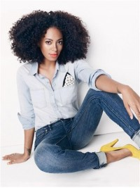 Solange inspired Curly full lace Human Hair Wig- SG086