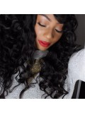 Angela Simmons inspired two tone wavy full lace human hair wig - AS088