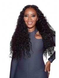 Angela Simmons inspired long curly full lace human hair wig - AS086