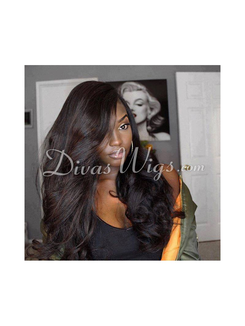 Stock Long Body Wave Full Lace Human Hair Wig As860 Home