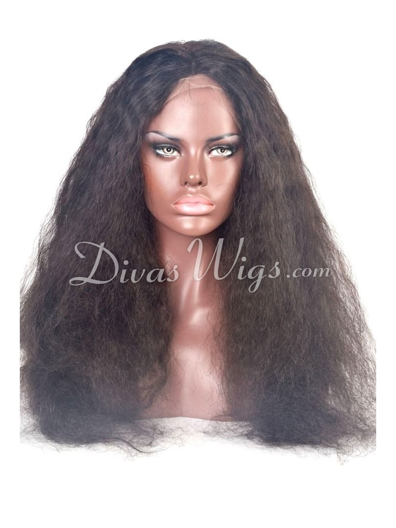 22 Inches Fluffy Water Wave Human Hair Full Lace Wig