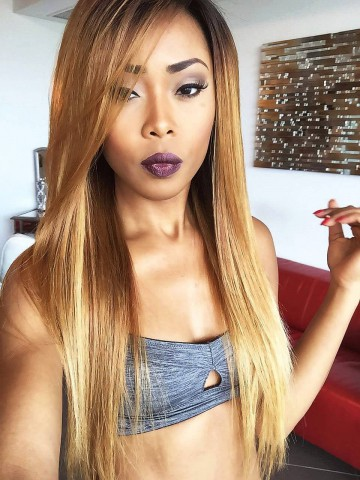 Hairstylist Jaelroumain Collection 20 inches 150% Density Indian Virgin Honey Blond Lace Front Human Hair Wig- Jaelroumain002