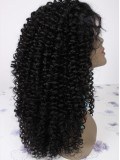 "16"" Jet Black (#1) Custom Curly Full Lace Wig - bhc1011"