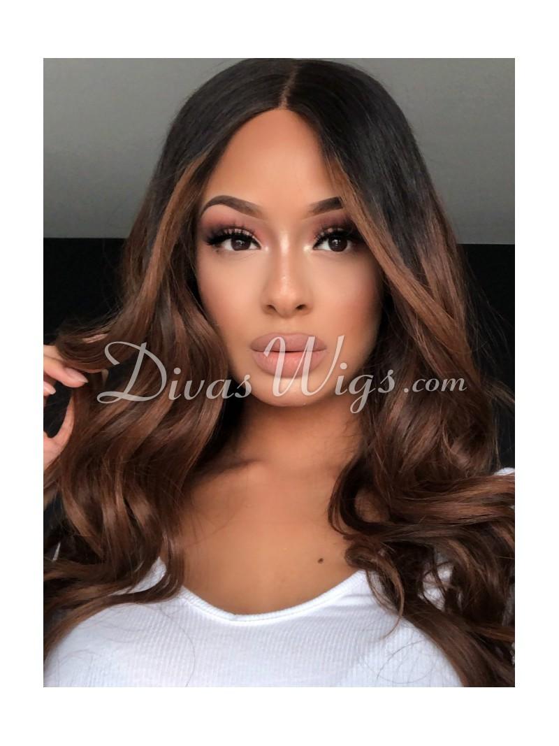 Mocha Chocolate Human Hair Lace Wig Home Divaswigs