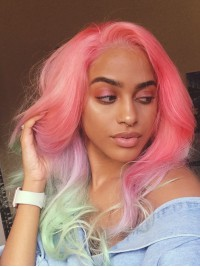 Cotton Candy Human Hair Lace Wig