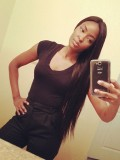 "26"" Jet Black (#1) Straight (Yaki)  Full Lace Wig - bhc1078"