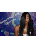 Straight (Yaki)  Full Lace Wig - bhc1078